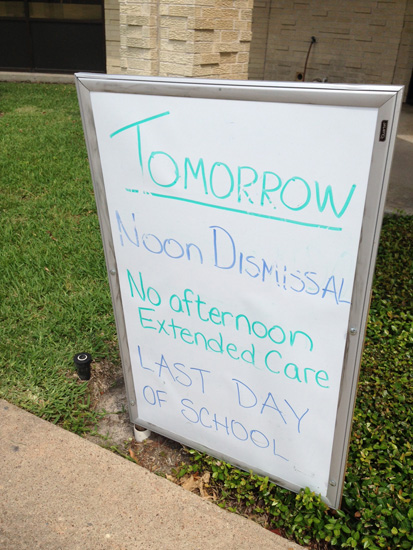 Last Day Sign