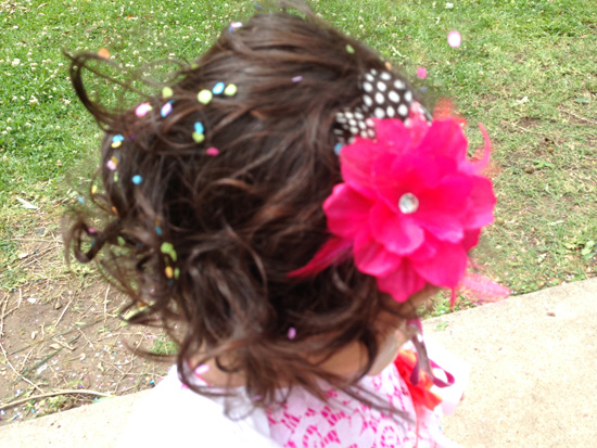 Spring Fling Confetti Hair