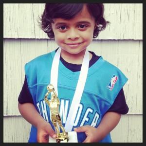 YMCA Thunder Basketball Trophy